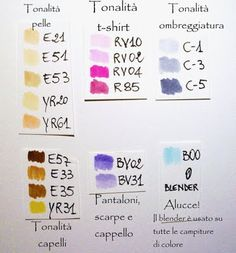 Copic color combo recommendations