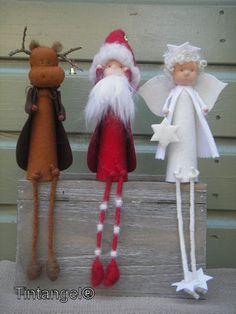 Kerst figuurtjes in Finse sfeer.