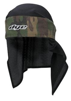 Dye Paintball Head Band - Olive Camo by Dye. $20.44. Description The Dye Head Wrap keeps hair out of your face and offers great protection for your forehead. Features full head coverage and a thick cotton forehead pad to keep the sweat out of your face