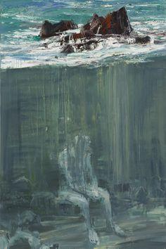 Euan Macleod (b. 1956, Christchurch, New Zealand) - Seated Figure Beneath Rocks, 2012 Paintings: Oil on Linen