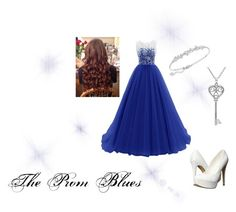 """""""The Prom Blues"""" by lovethecountry ❤ liked on Polyvore featuring Michael Antonio, Swarovski and Amanda Rose Collection"""
