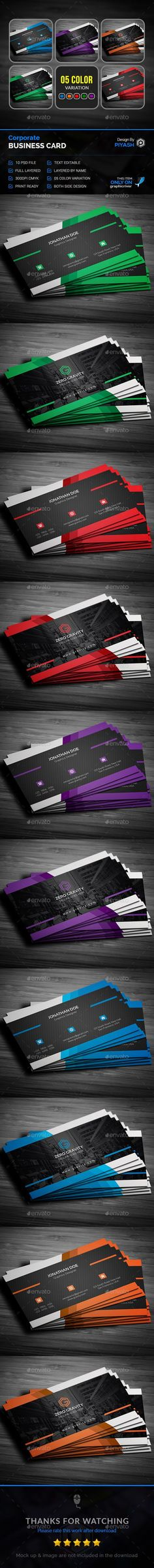 Business Card — Photoshop PSD #pack #web • Available here → https://graphicriver.net/item/business-card/15490727?ref=pxcr