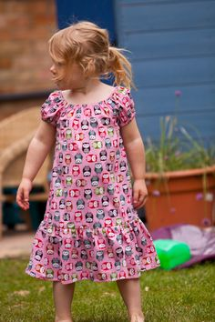 A personal favourite from my Etsy shop https://www.etsy.com/uk/listing/237774056/little-girls-pink-owl-print-summer-dress