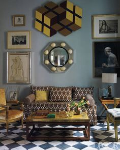 The sitting room of a Madrid home