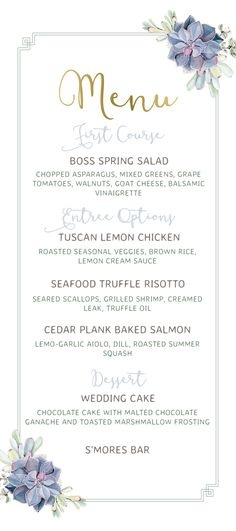 Compliment Your Perfect Wedding Dishes With The Cheerful Simple Script Menu Go Black For Drama Brown Kraft An In Air And Sage A Spring