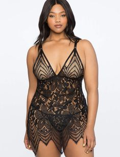 View our Lace Babydoll and shop our selection of plus size designer women's , plus size clothing and fashionable accessories. Curvy Girl Lingerie, Plus Size Lingerie, Women Lingerie, Sexy Lingerie, Lingerie Outfits, Stockings Lingerie, Beautiful Lingerie, Sexy Outfits, Curvy Women Fashion