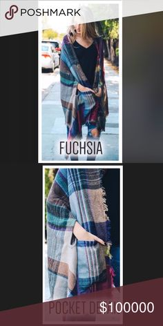 Coming soon!  Blanket poncho with pockets Coming soon!  Amazing blanket poncho with arm holes and pockets.  One size fits most.   Prices firm on boutique items. Aluna Levi Jackets & Coats Capes