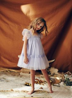 Nellystella Love Fiona Dress in Periwinkle - PRE-ORDER – Hello Alyss - Designer Children's Fashion Boutique Little Girl Dresses, Girls Dresses, Flower Girl Dresses, Baby Dress Design, Moda Casual, Little Girl Fashion, Mannequins, Kind Mode, Occasion Dresses
