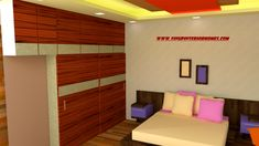 small duplex ceiling and furniture Ceiling Color Design, House Ceiling Design, Duplex House Design, Home Ceiling, Tv Stand Designs, Wardrobe Design Bedroom, False Ceiling Bedroom, Modern Master Bedroom, Colored Ceiling