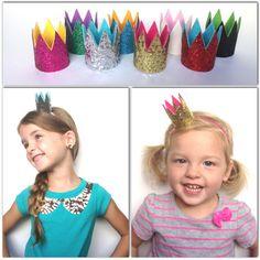 Birthday Crown Headband set of 4...Party by AvaandPaislee on Etsy, $20.00