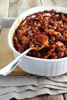Maple Baked Beans aren't just for summer bbq, they make a great side for that Easter ham.