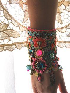 Monsoon Gypsy Jangle Bracelet Bohemian Gypsy by AllThingsPretty
