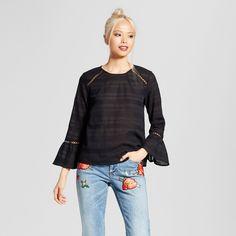 Women's Summer Blouse - Who What Wear Black XL
