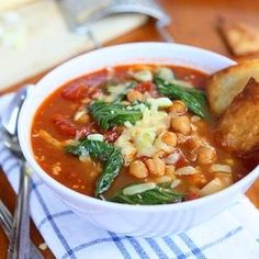 Bok Choy, Chickpea, Tomato Stew with Homemade Tortilla Chips and Gouda.