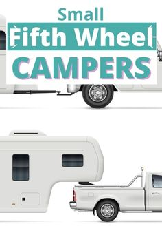 If you want the benefits of a fifth wheel (like towing stability) but don't want a huge RV or tow vehicle, these small fifth wheel campers may be perfect for you! | Fifth wheel floor plans small | Small 5th wheel camper | Small fifth wheel trailers | Fifth wheel tiny house 5th Wheel Camper, Fifth Wheel Campers, Fifth Wheel Trailers, Buying An Rv, 5th Wheels, Rv Campers, Small Small, Stability, Recreational Vehicles