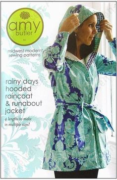 Amy Butler Rainy Days Raincoat Sewing Pattern