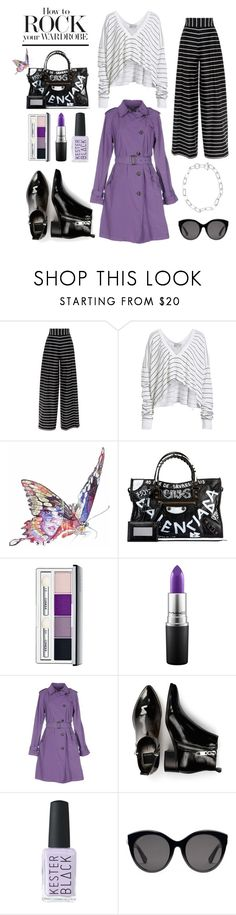 """Rock Your Wardrobe"" by istyled on Polyvore featuring Wildfox, Jane Lee McCracken, Balenciaga, Clinique, MAC Cosmetics, HISTORIC, Dolce Vita, Gucci, French Connection and stripes"