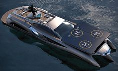 Xhibitionist luxury super-yacht by Gray Design, designed with the flowing lines of an Art Nouveau masterpiece and automotive styling. Images © Gray Design The… Yacht Design, Boat Design, Super Yachts, Design Transport, Ski Nautique, Cool Boats, Yacht Boat, Sailing Yachts, Yacht Club
