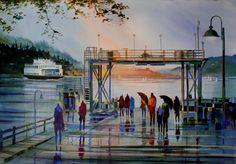 """""""Friday Harbor Sunrise"""" - by John Ebner"""