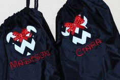 Girls custom personalized  backpack disney minnie mouse mickey mouse, $21.00