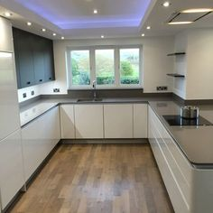 Mr & Mrs Fort - DP Interiors of Preston, Lancashire - Modern Kitchen Kitchen Ceiling Design, Kitchen Room Design, Modern Kitchen Design, Kitchen Interior, Kitchen Decor, Kitchen Ideas, Kitchen Living, New Kitchen, Luxury Kitchens