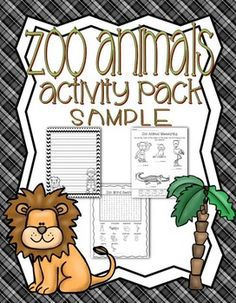 FREE Zoo Animals Activity Pack {sample}