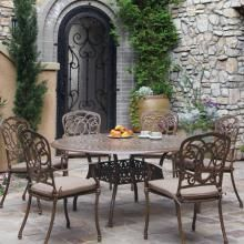 Darlee By Florence 6 Person Cast Aluminum Dining Set