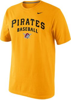 Whether you're playing baseball or heading to the gym, showcase your pride for the Pittsburgh Pirates with this comfortable Nike MLB Practice tee. Crew neckline Pullover style Short sleeves Nike logo at chest Screen print team name and logo at front Clear gel treatment applied to graphics at front for a matte and shine appearance Cotton Machine washable