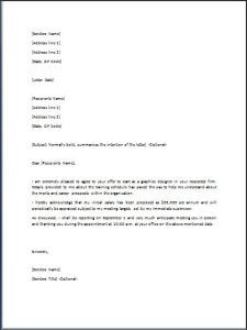 Sample Employment Acceptance Letter  Job Offer Acceptance Letter