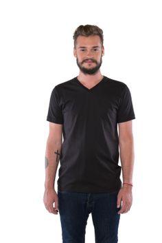 camiseta Basic V black