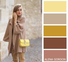 beige + yellow