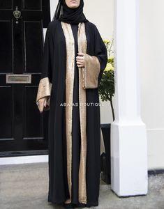 Abayas and hijabs for all occassions - Abayas Boutique Arab Fashion, Muslim Fashion, Hijab Dress, Hijab Outfit, Abaya Pattern, Kurti Sleeves Design, Black Abaya, Mode Abaya, Modele Hijab