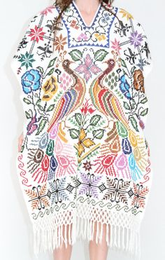 Mexican Embroidered Poncho