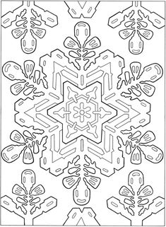 Welcome to Dover Publications  -  Creative Haven Snowflake Designs Coloring Book
