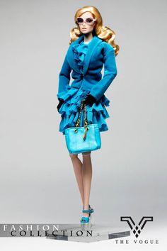 TV1041 The Vogue Blue Lace Dress Fashion Full Set (Limited Edition) Box Set for Barbie Fashion Royalty FR2 Poppy Parker Silkstone
