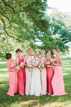 long pink bridesmaid dresses | Ashleigh Jayne
