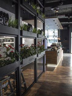 Дизайн кофе-клуба в промышленном стиле