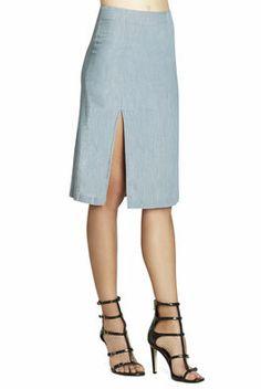 High-Slit A-Line Skirt
