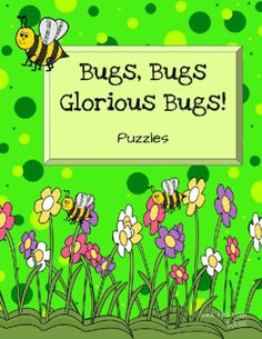 Puzzles: Letter and Number Match (Bugs and Insects) from Sara Hickman on TeachersNotebook.com -  (21 pages)  - 16 Letter Match Puzzles and 16 Number Match Puzzles