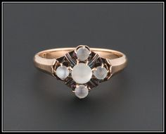 Antique Victorian Moonstone Ring 10k Gold by TrademarkAntiques