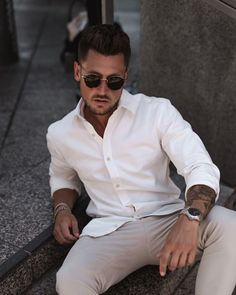 ANew summerstyle white shirt outfits classic style