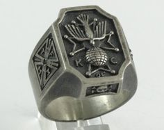 Knights of Columbus Ring Skull Cross Unique Design by vipZone3440