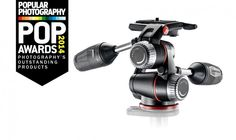 POP Awards 2014 Manfrotto XPro 3-way head While this pan-tilt head can hold more than 17 pounds of gear, the head itself weighs 2.2 pounds.