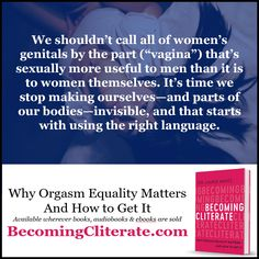 Viva La Vulva! Let's name and celebrate our most orgasmic organ!  Learn more at http://DrLaurieMintz.com * * * * * #becomingcliterate #cliterate #clitoris #orgasm #female #femaleorgasm #sex #sexeducation  #adultsexed #femalesexuality #freesexadvice #orgasmequality #vulva #language