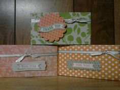 little gift boxes made with Stampin' Up bigshot and box #2 die