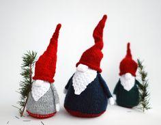 3 Gnomes  pdf knitting patterns. Christmas Ornament. by deniza17, $6.00