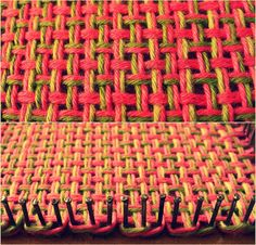 Really clear directions for round loom knitting a flat piece. Round Loom Knitting, Loom Knitting Stitches, Spool Knitting, Knifty Knitter, Loom Knitting Projects, Weaving Projects, Pin Weaving, Tapestry Weaving, Loom Weaving