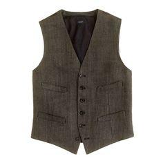 Ludlow vest in herringbone Italian linen - vests - Men's sportcoats & vests - J.Crew