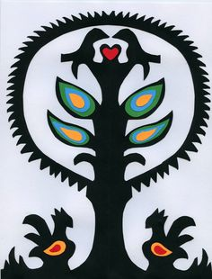 Wycinanki/ polish paper cut-out   (spring time activity)