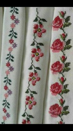 Cross Stitch Borders, Cross Stitch Rose, Cross Stitch Flowers, Cross Stitch Designs, Cross Stitch Patterns, Bargello, Needlepoint, Needlework, Diy And Crafts